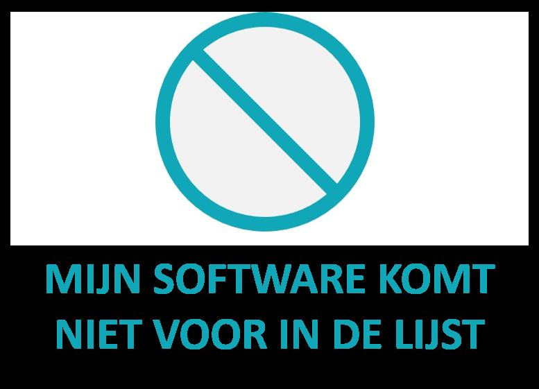 Mijn software komt niet voor